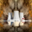 Explosion of a nuclear power plant. Environmental concept. — Stock Photo