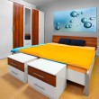 Stock Photo: Modern bedroom.