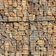 Stone wall - measure against erosion. Ecology building earth work. — Stock Photo