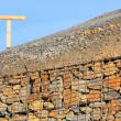 Stone wall - measure against erosion. Ecology building earth work. — Stock Photo #33446621