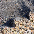 Stone wall - measure against erosion. Ecology building earth work. — Stock Photo #33446631