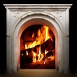 Fireplace with burning logs — Stock Photo #33449075