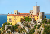 Gothic Duino castle — Stock Photo