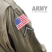 Flag patch on the american battledress — Stock Photo