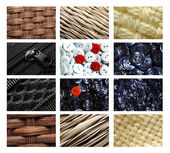 Textile and buttons set — Stock Photo
