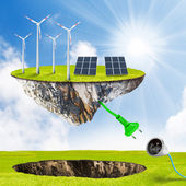 Green energy. Renewable resources concept. — Foto de Stock