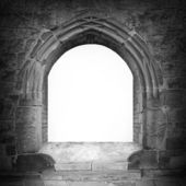 Gothic stone gate with space for your text. — Stock Photo
