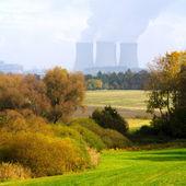Landscape with nuclear power plant — Foto de Stock