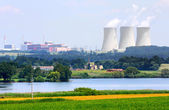 Nuclear power plant. — Stockfoto
