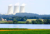 Nuclear power plant. — Foto de Stock