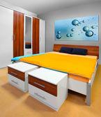 Moderna sovrum. — Stockfoto