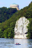 Danube Gorge with Befreiungshalle — Stock Photo