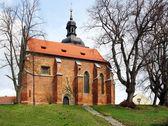 Gothic church st Nikolaus — Stock Photo