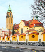 Neogothic church of The Virgin Mary and monastery (friary of st. Dominic) — Stock Photo