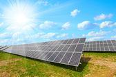 Solar energy panels against sunny sky. — 图库照片