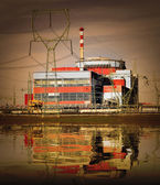 Nuclear power plant on the coast — Stock Photo