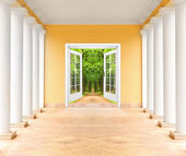 Hall path in luxury house. — Foto de Stock