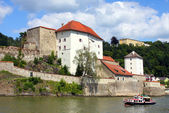 Castle of Passau on Danube river — Stock Photo