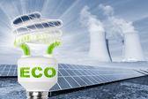 Lámpara con paneles solares — Foto de Stock