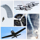 Collage air force — Stock Photo
