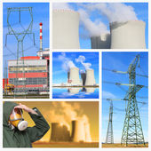 Pictures from atomic plant — Stock Photo