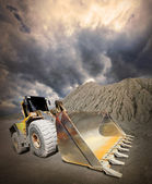 Loader excavator — Stock Photo