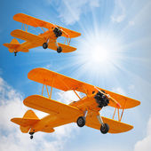 Old biplanes — Stock Photo