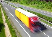 Truck on highway — Stock Photo