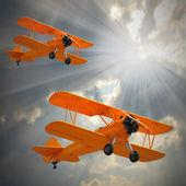 Biplanes. — Stock Photo
