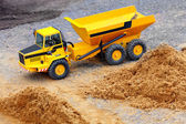 Yellow dumper — Stock Photo