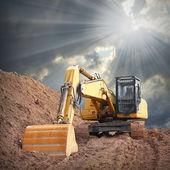 Excavator in old mine — Stock Photo