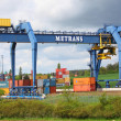 Big container terminal on a railroad — Stock Photo #33573125