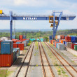 Big container terminal on a railroad — Stock Photo #33573129