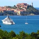 Panoramic view of The Portoferraio on the island of Elba — Stock Photo #33577031