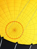 Yellow hot air baloon inside. Retro technology background. — Stock Photo
