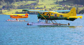The de Havilland Canada DHC-2 Beaver is a single-engined rescue plane — Stock Photo