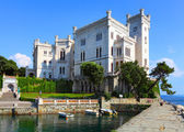 The Miramare Castle in Trieste — Stock Photo