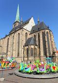 Easter market in Pilsen — Stock Photo