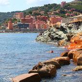 Rio marina cidade medieval sobre a ilha de elba — Fotografia Stock