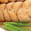 Bread and wheat ears — Stock Photo