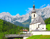 The Ramsau village — Stock Photo