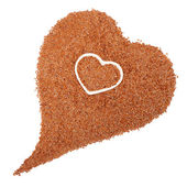 Flax seeds heart — Stock Photo