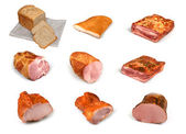 Meat and bread collection — Stock Photo