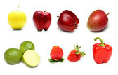 Fruits and vegetables collection — Stock Photo