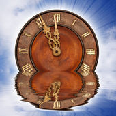 Sinking clock — Stock Photo