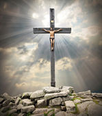 Jesus Christ on The Cross. — 图库照片
