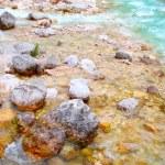 Alpine mountain river in the Dolomites - Italy - Europe — Stock Photo