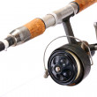 Vintage fishing rod with reel. — Stock Photo