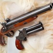 British colonial pistols from the early 19th century.  — 图库照片