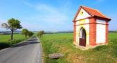 Chapel beside road — Stok fotoğraf